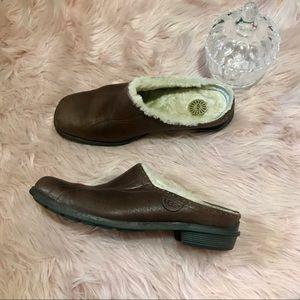 UGG Langford Brown Slide In Mules Clogs 7